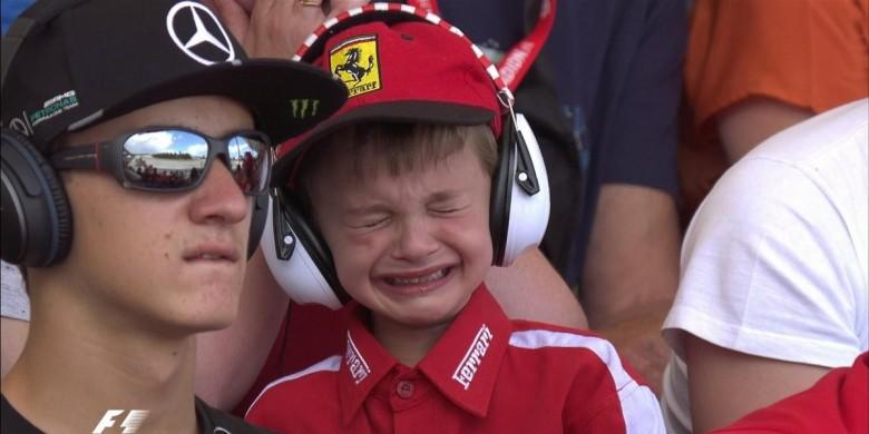 Anak Ini Menangis gara-gara Kimi Raikkonen