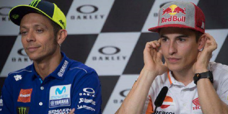 Valentino Rossi Akui Konfliknya dengan Marc Marquez Belum Usai