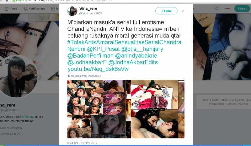Serial Chandra Nandni Diprotes karena Terlalu Vulgar