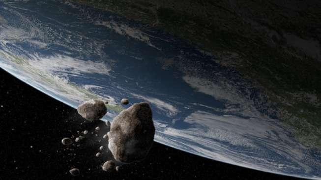 Asteroid Seukuran Ikan Paus Hanya Melewati Bumi