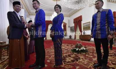Open House di Istana, Jokowi Titip Pesan Lewat Anak SBY