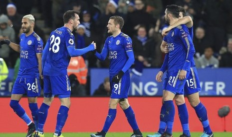 Leicester Pesta Gol ke Gawang Newcastle