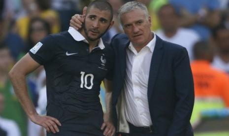 Benzema Putus Asa Bisa Perkuat Prancis di Piala Dunia 2018