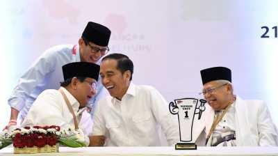 Hasil KPU: Jokowi-Ma'aruf Menang Pemilu Presiden