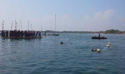 Tanjung Lesung Gelar Upacara 17 Agustus di Bawah Laut