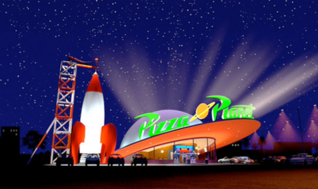 Disneyland Buat Pizza Planet Toy Story