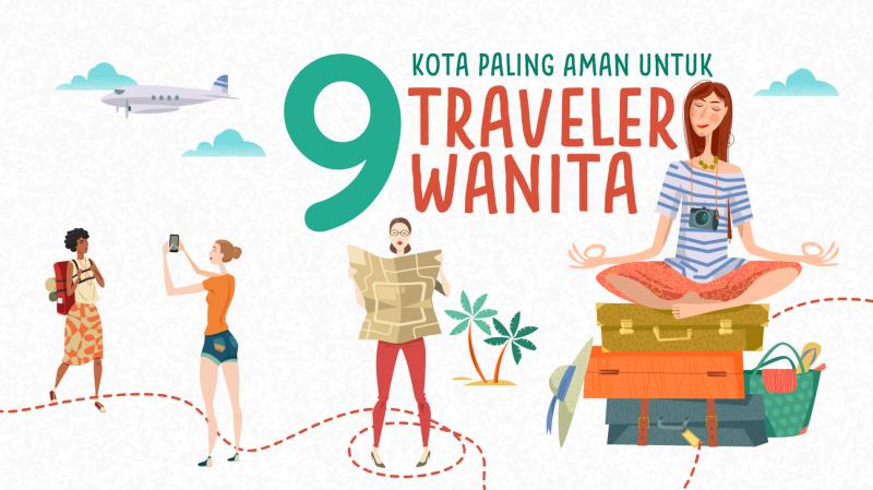 Inforafik: 9 Kota Paling Aman untuk Traveler Wanita