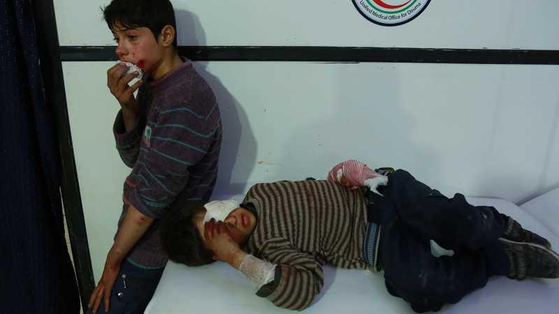 Anak-anak Ghouta Sembunyi di Bungker, Berhari-hari Tidak Makan