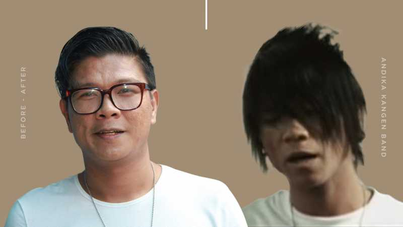 Transformasi Gaya Rambut Andika eks 'Kangen Band'