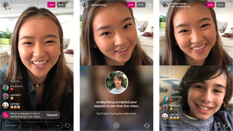 Sekarang Bisa Minta Join Live Streaming di Instagram Orang Lain