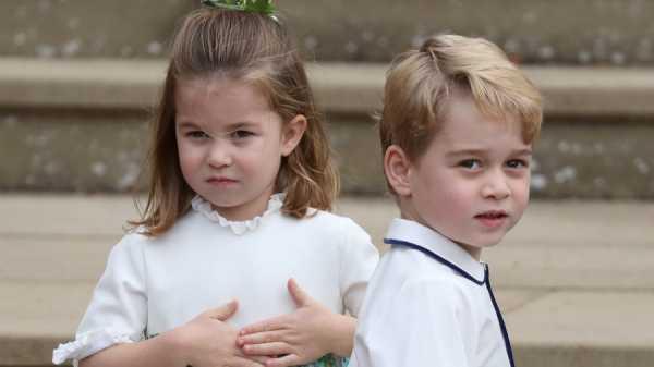 Potret Putri Charlotte dan Pangeran George di Pernikahan Putri Eugenie