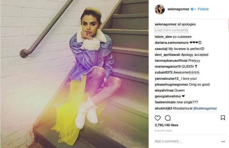 Unggah Foto Ini, Selena Gomez Meminta Maaf Kepada The Weeknd