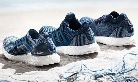Adidas Jual Satu Juta Pasang Sepatu Berbahan Limbah Plastik