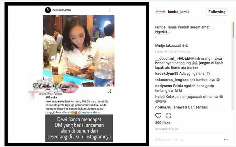 Dapat Ancaman Pembunuhan, Dewi Sanca Malah Ditantang Netizen