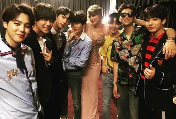 Taylor Swift dan BTS Akrab di Billboard Music Awards 2018