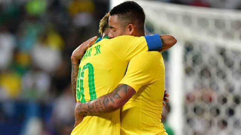 Berkat Gabriel Jesus dan Alex Sandro, Brasil Tekuk Arab Saudi