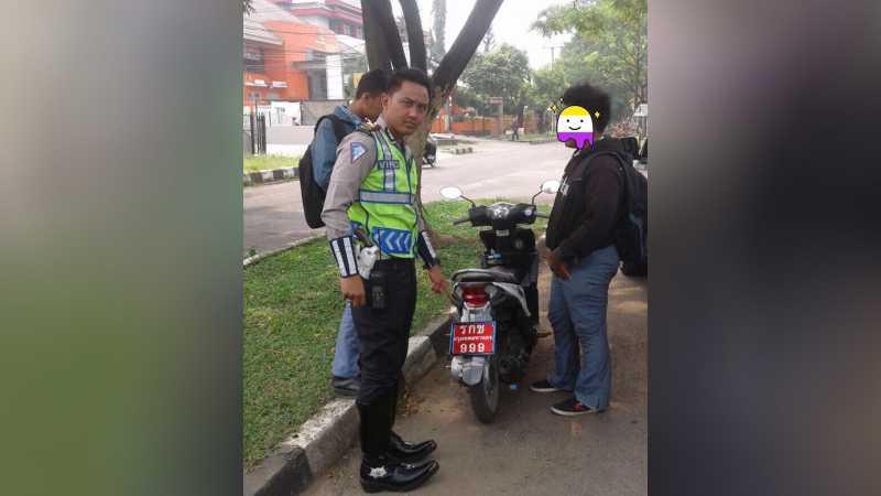 Pemotor yang Gunakan Nopol Thailand Diciduk dalam Operasi Zebra