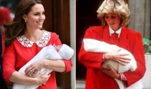 Kate Middleton Tiru Busana Putri Diana Pasca Melahirkan
