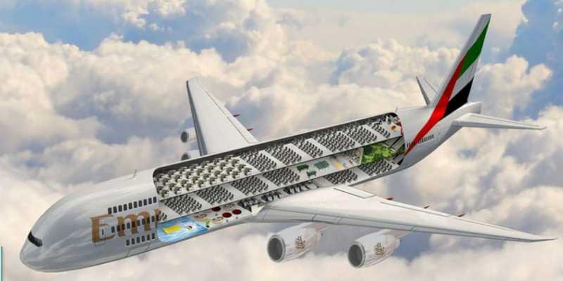 Pesawat Emirates Bakal Dilengkapi Kolam Renang dan Taman